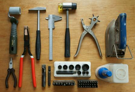 Kaletnicze narzędzia